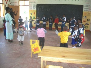 Children enjoying a lesson at Mbeya